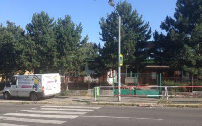 Nátěr fasády mateřské školy Praha 4
