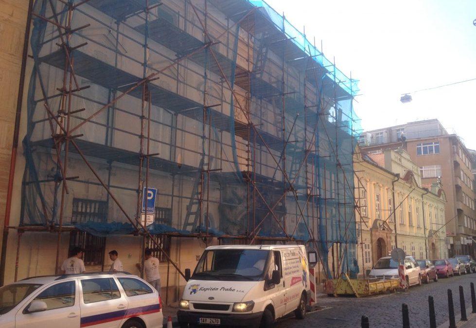 Nátěr fasády Voršilská 12