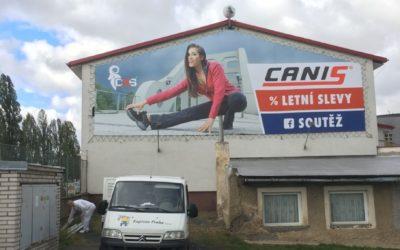 Canis pracovní oděvy nátěr fasády