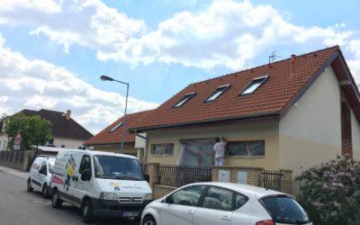 Nátěr fasády rodinného domu
