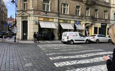 Kozička Kozí ulice nátěr fasády
